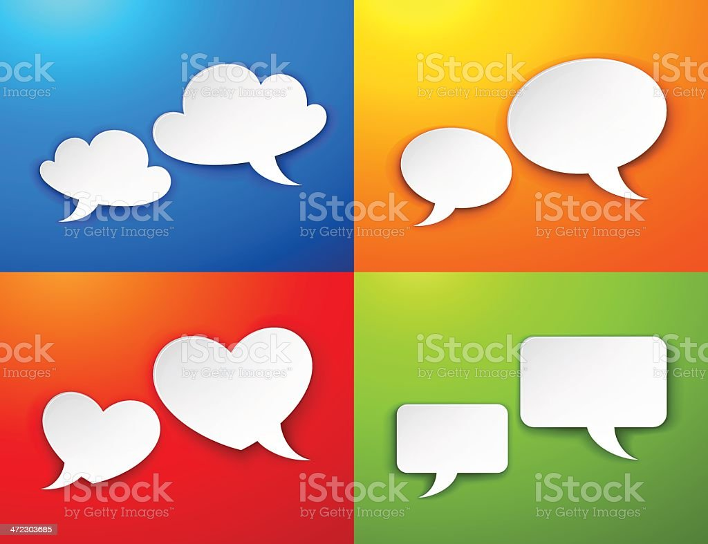 Speech bubbles royalty-free speech bubbles stock vector art & more images of backgrounds