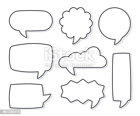 Speech bubbles talking and interaction chat.