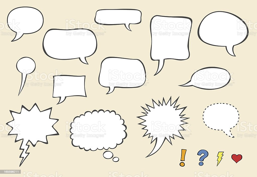 Speech bubbles vector royalty-free stock vector art