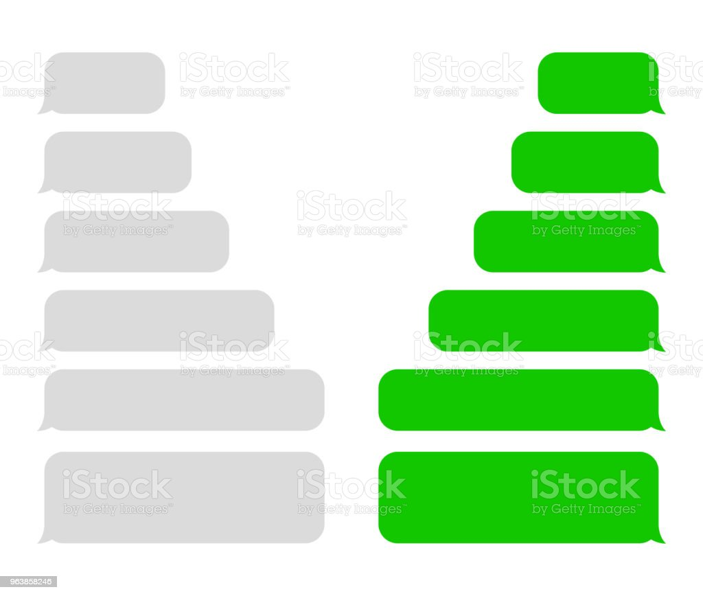 SMS . Speech bubbles. Vector - Royalty-free Biological Cell stock vector