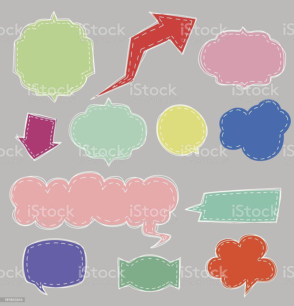 Speech bubbles vector2 royalty-free stock vector art