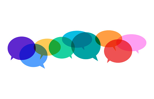 Speech bubbles vibrant colors