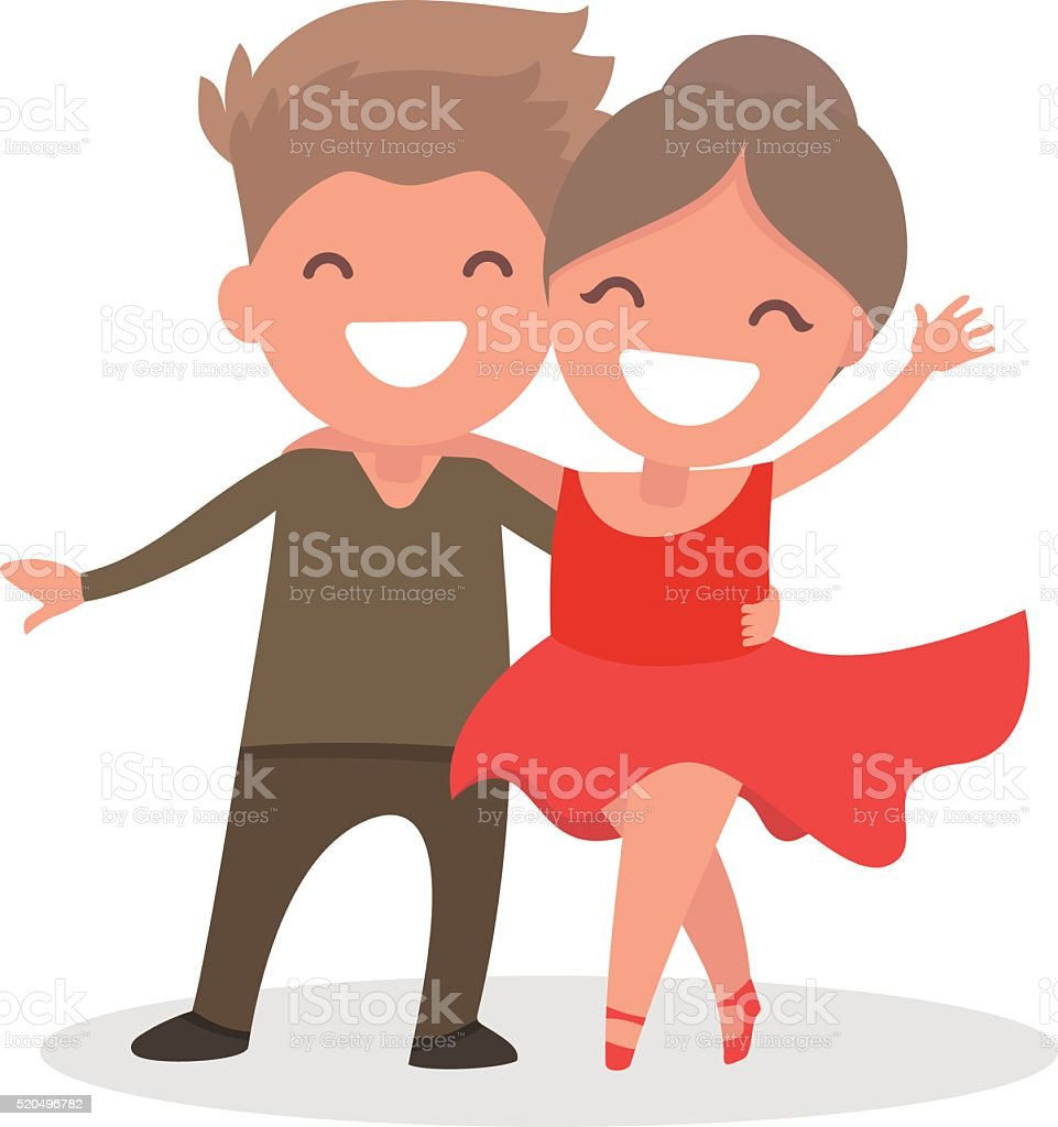 Speech by children in competitions in sport dancing. vector art illustration
