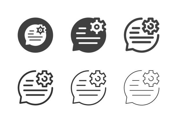 Speech Edit Icons - Multi Series vector art illustration
