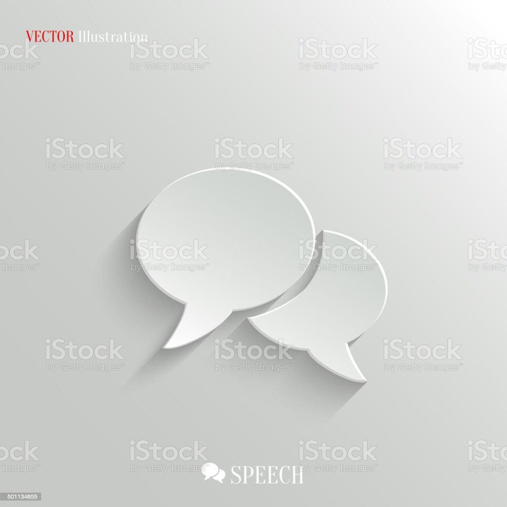 Speech icon - vector web background vector art illustration