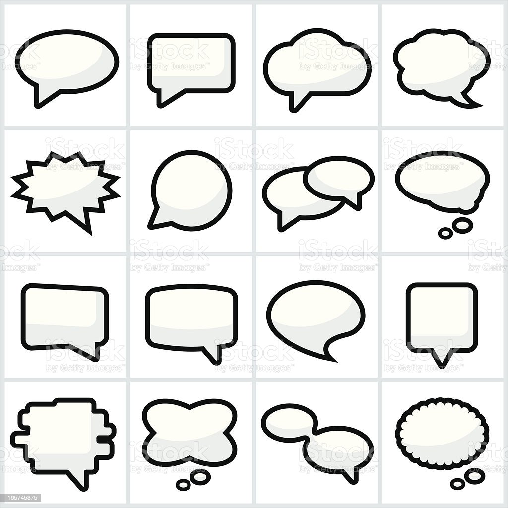 Speech or Chat Bubbles royalty-free stock vector art