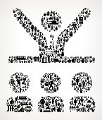 Speech  Protest and Civil Rights Vector Icon Background