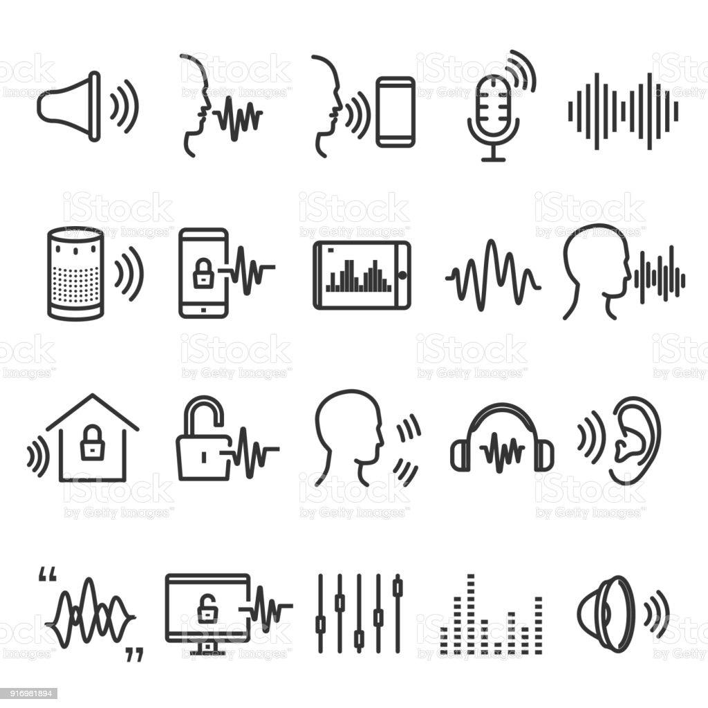 Speech recognition device vector art illustration