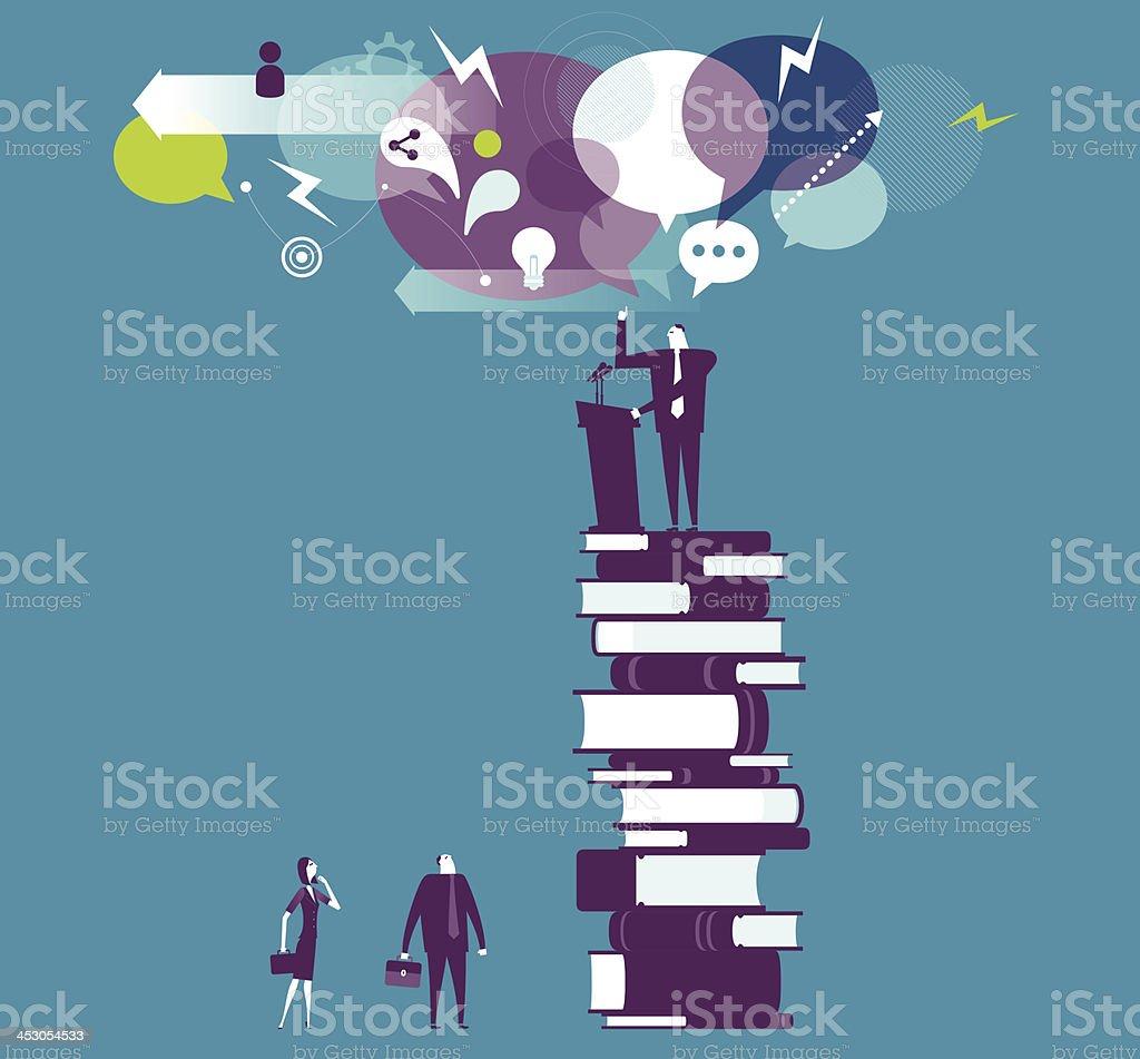Speech vector art illustration
