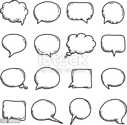 Vector File of Doodle Speech Bubble