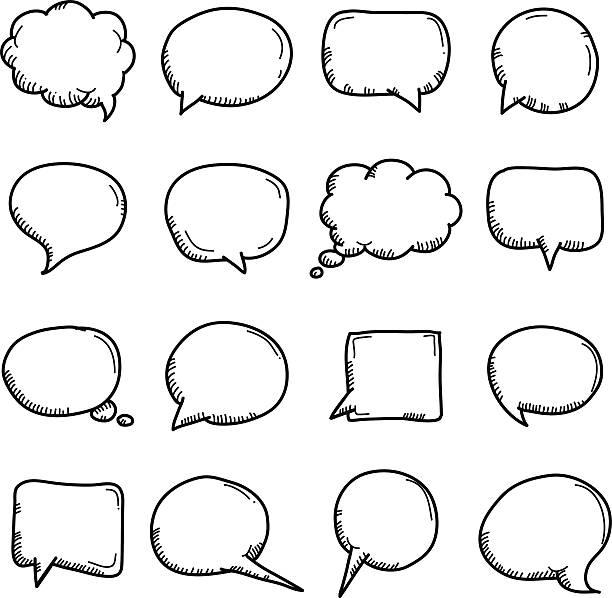 Discurso - ilustração de arte em vetor