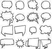 Vector File of Doodle Speech Bubble