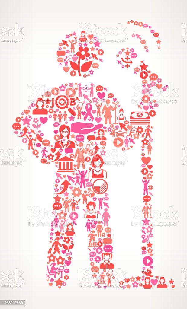 Speech Womens Rights And Female Empowerment Icon Pattern Stock