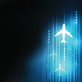 speed aircraft background, business and technology concept vecto