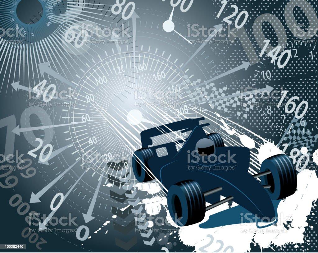 speed backround on racecar royalty-free stock vector art