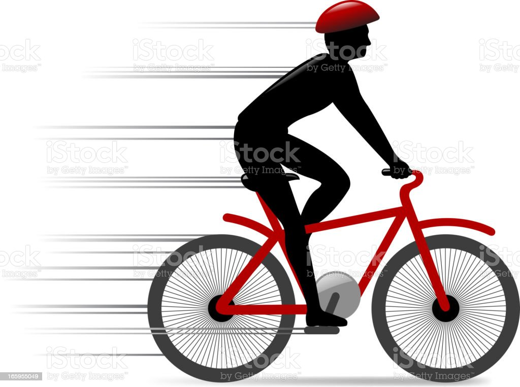 speed bicycle royalty-free stock vector art