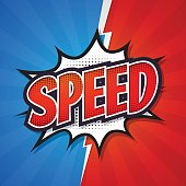 Speed, Comic speech bubble element design. Vector illustration. Vector illustration.