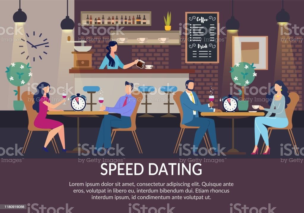 Speed Dating For Lonely People Invitation Poster Stock Illustration Download Image Now Istock