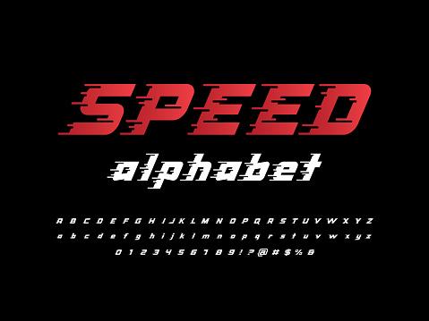 Speed style alphabet design