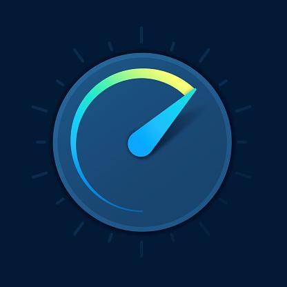 Speed Gauge Dial Symbol