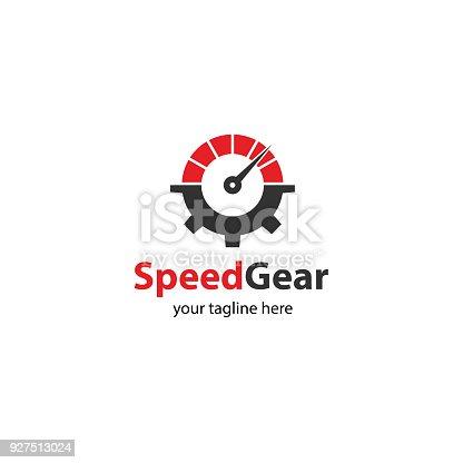 Speed gear, auto gear, fast service. Vector template