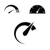 Speed icon set.