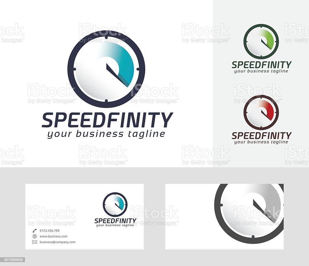 Speed Infinity vector logo – Vektorgrafik