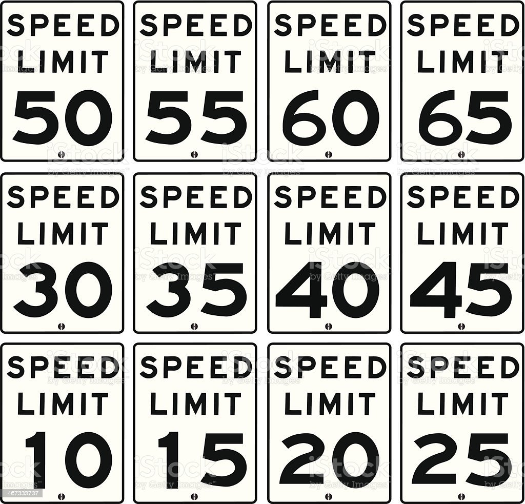 Speed Limit Sign vector art illustration