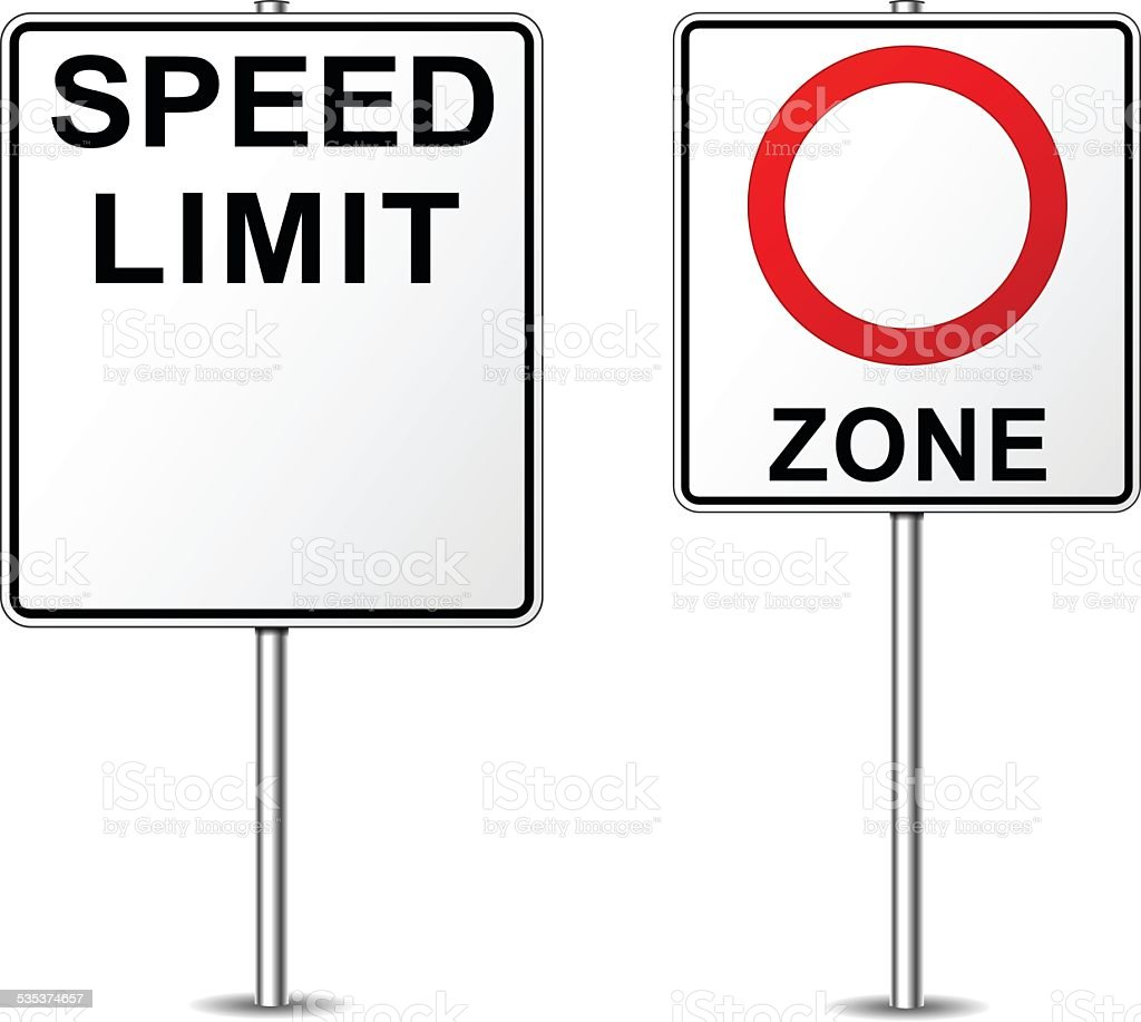 speed limit vector art illustration