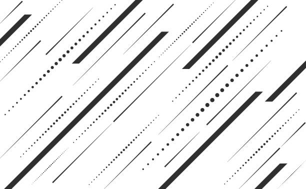 Speed lines and dots lines angle vector background abstract Angle creative speed lines, dot lines vector graphic artwork design element diagonal stock illustrations