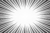 speed lines. radial zoom speed light. explosion effect. vector illustration on white abstract background. wallpaper for banner business social media advertising. comic backdrop template design.