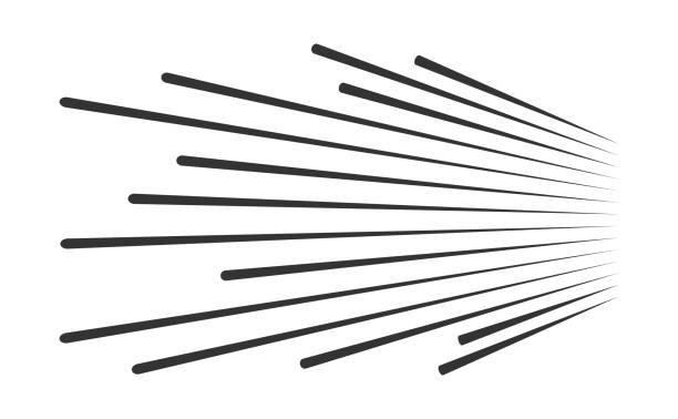 linien der geschwindigkeitsvektor - bewegungsaktivität stock-grafiken, -clipart, -cartoons und -symbole