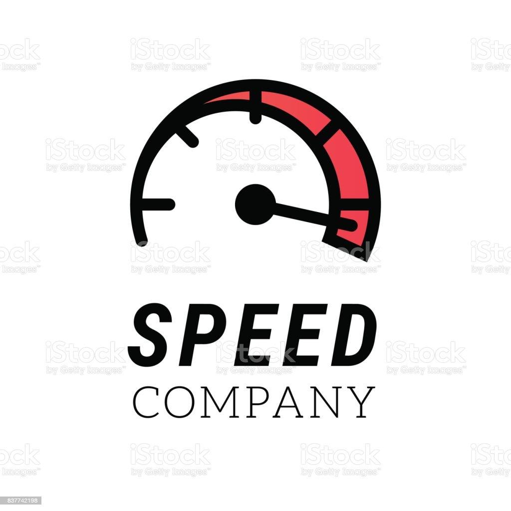 Logotipo De La Velocidad Internet O Coche Símbolo Abstracto Del ...