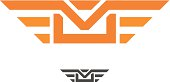 Speed mail with wings for reliable professional and fast delivery vector logo design