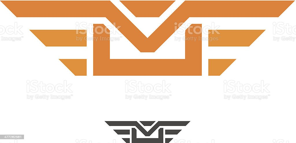 Speed mail wings professional and fast delivery vector logo design vector art illustration