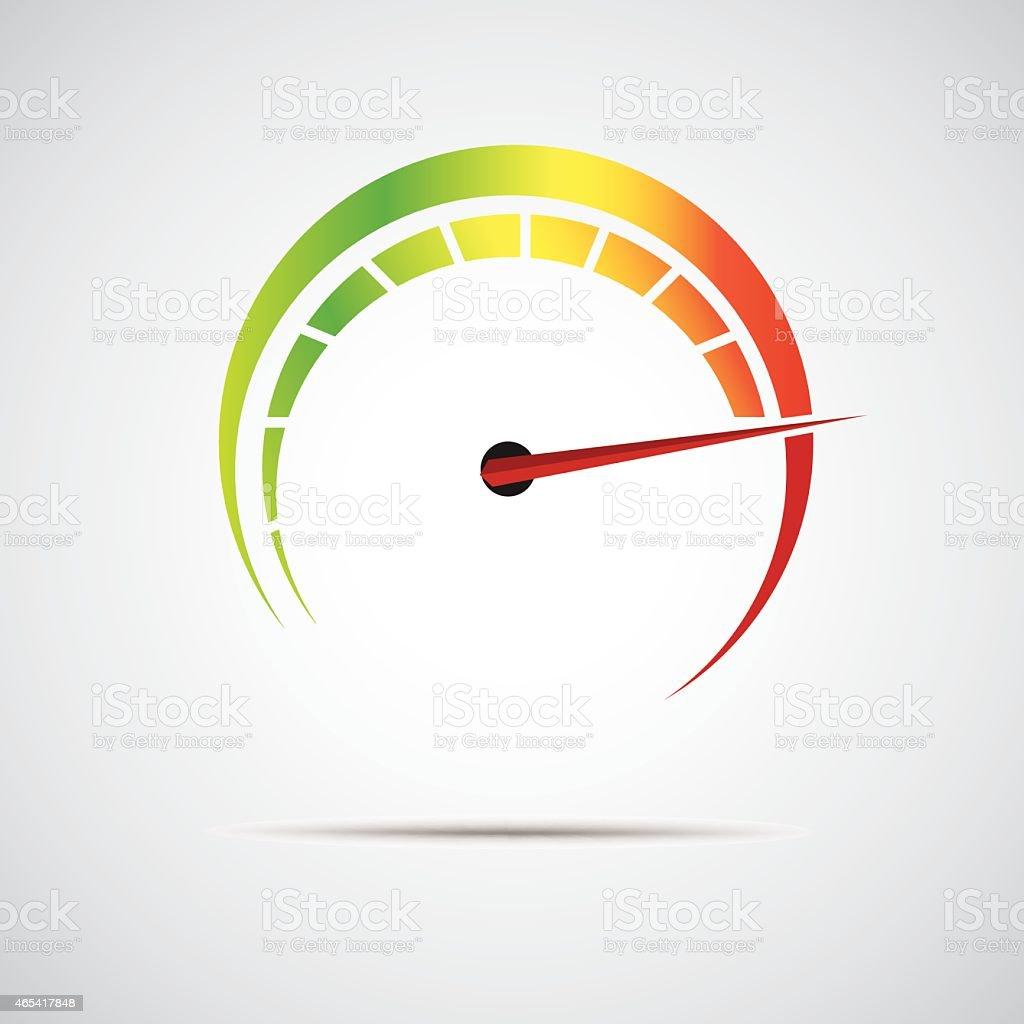 speed meter icon vector art illustration