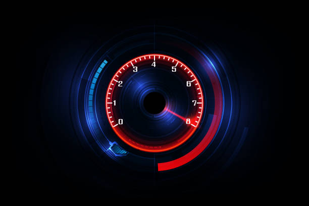 Speed motion background with fast speedometer car. Racing velocity background. Speed motion background with fast speedometer car. Racing velocity background. speedometer stock illustrations