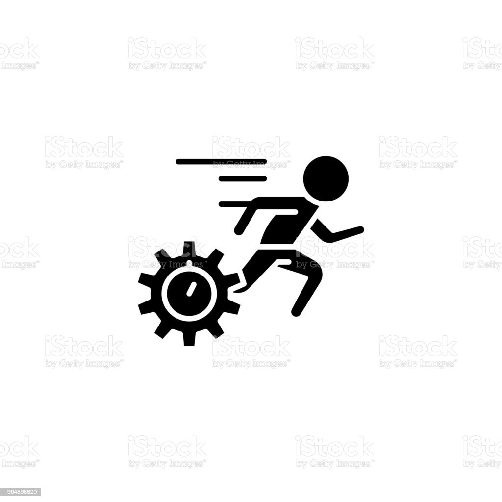 Speed of fulfilment black icon concept. Speed of fulfilment flat  vector symbol, sign, illustration. royalty-free speed of fulfilment black icon concept speed of fulfilment flat vector symbol sign illustration stock vector art & more images of agility