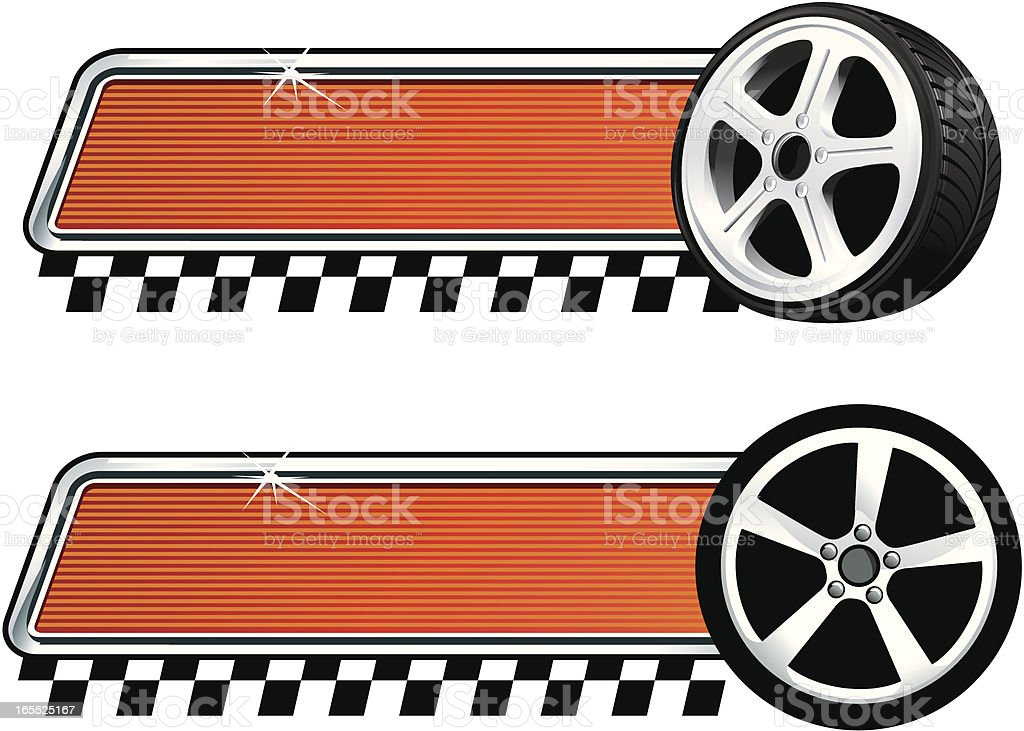 Speed plaques vector art illustration