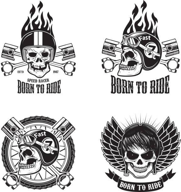 Speed racer. Born to ride. Vector illustration. vector art illustration