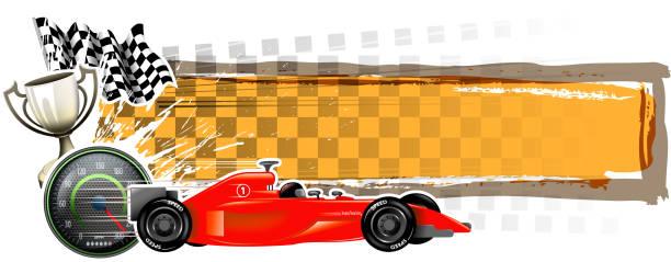 speed season banner - formula 1 stock illustrations