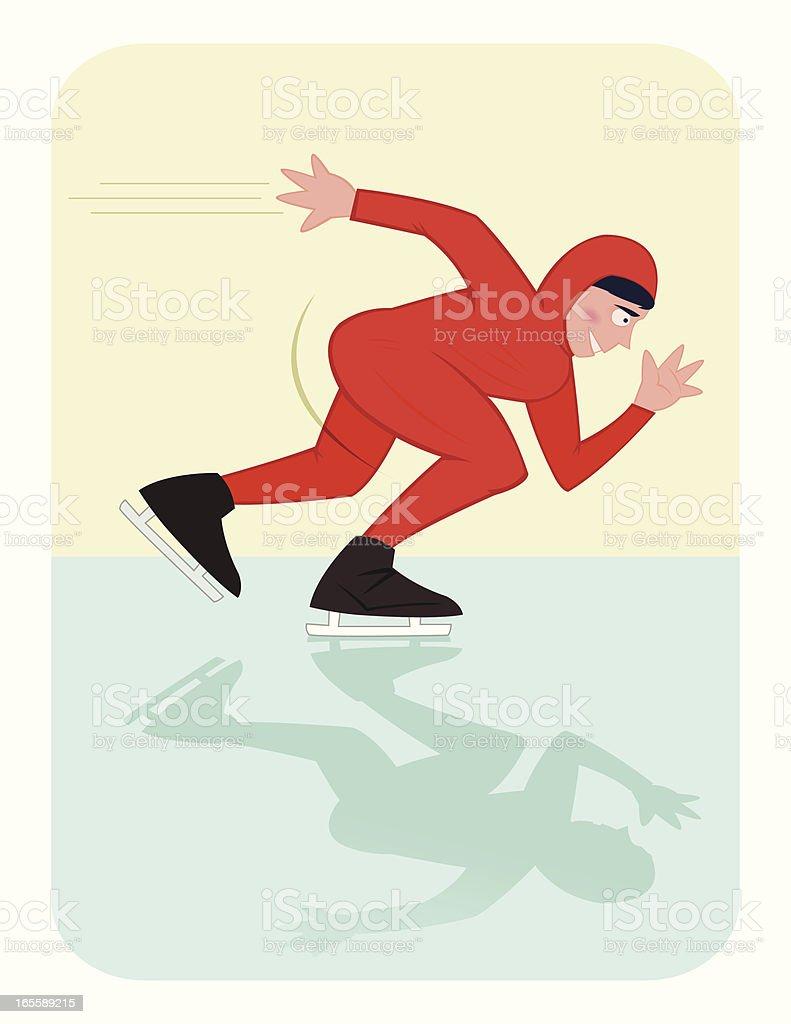Speed Skater royalty-free stock vector art