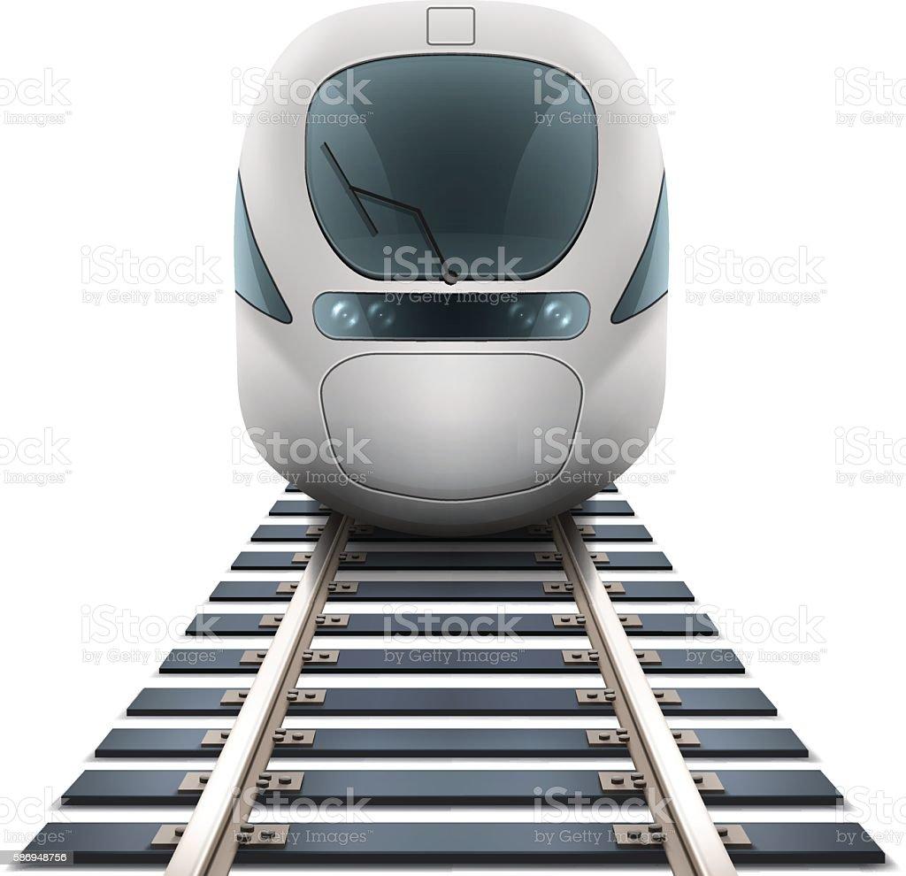 Speed Train vector art illustration