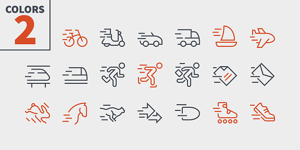 Speed UI Pixel Perfect Well-crafted Vector Thin Line Icons 48x48 Ready for 24x24 Grid for Web Graphics and Apps with Editable Stroke. Simple Minimal Pictogram