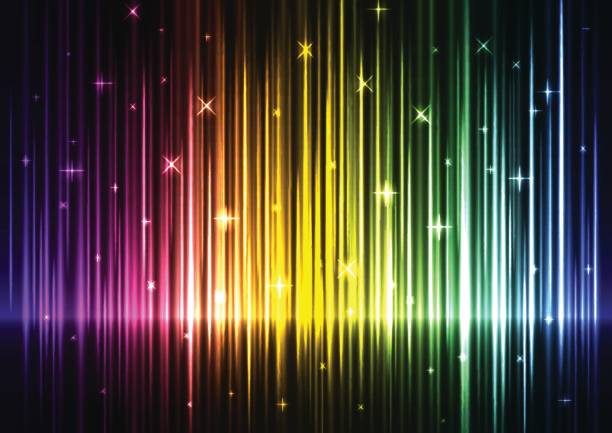 speed wave rainbow abstract background - rainbow glitter background stock illustrations, clip art, cartoons, & icons