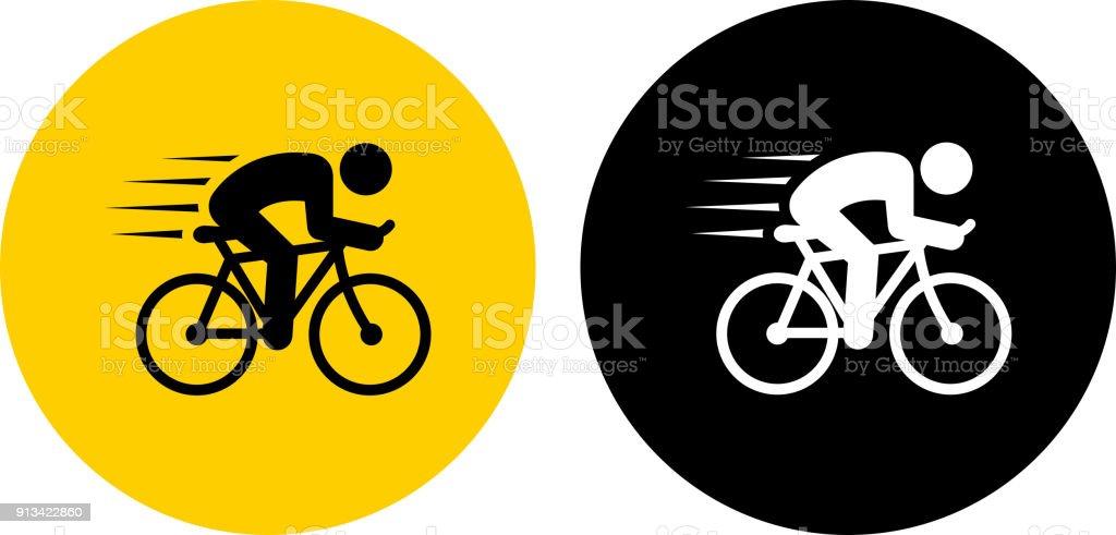 Speeding Bicycle. vector art illustration