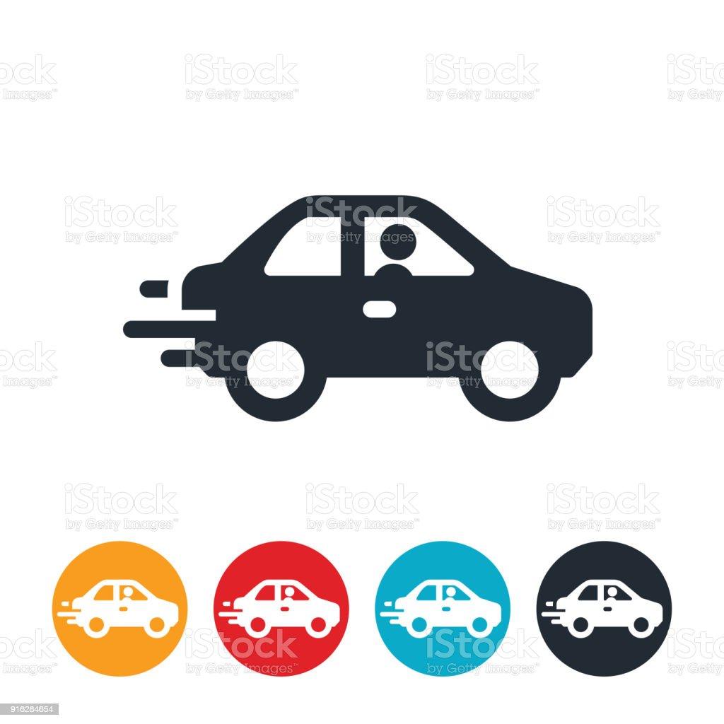 Icono coche acelera - ilustración de arte vectorial
