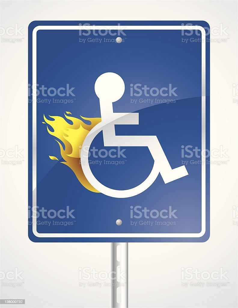 Speeding Handicap Road Sign royalty-free stock vector art