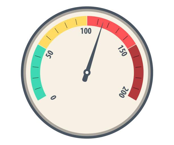 bildbanksillustrationer, clip art samt tecknat material och ikoner med hastighetsmätare grundläggande vektor. hastighetsmätare färgikonen. hastighetsmätare eller allmänna indikatorer med nålar. hastighetsmätare, vägmätare isolerade ikonen på vit bakgrund, auto service,, vektor, hastighetsmätare ikon - barometer