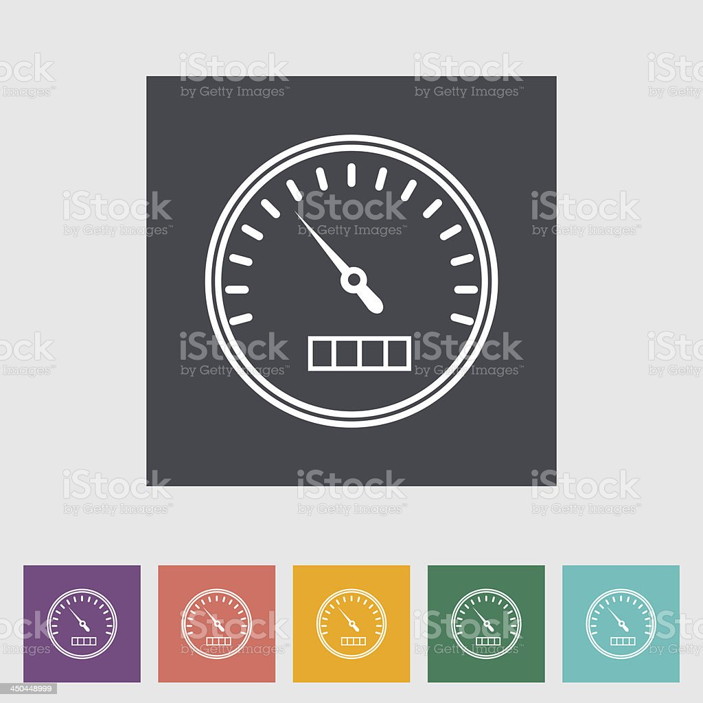 Speedometer flat icon. vector art illustration